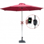Aluminium Solar Patio Umbrella