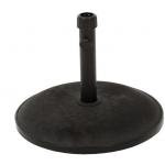 Round Black Concrete Umbrella Base