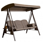 3-Seat Steel  Swing , Taupe