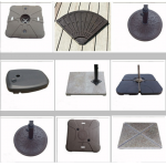 Sturdy Cement Umbrella Base Gray