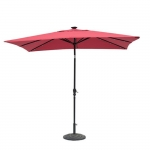 Rectangular Solar Lighted Umbrella