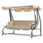 Outsunny Covered Outdoor Swing, Sand